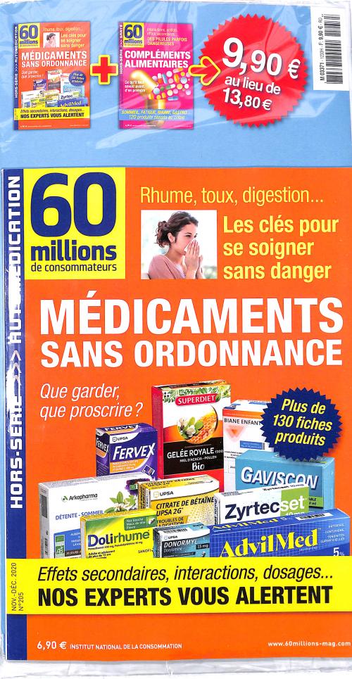60 MILLIONS DE CONSOMMATEURS SPC.EXP + PRODUIT