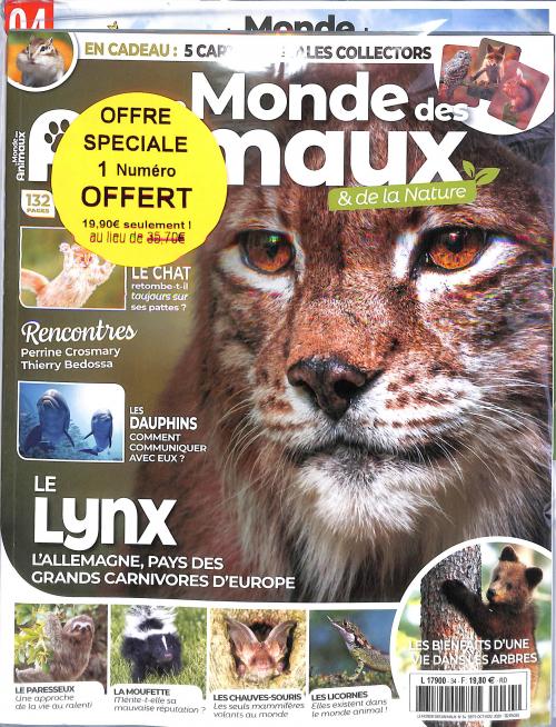 LE MONDE DES ANIMAUX - OFFRE COUPLÉE