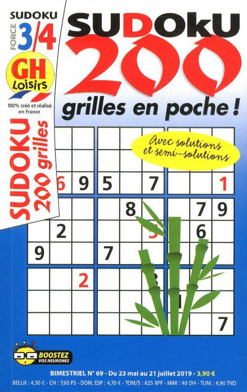GH SUDOKU 200 GRILLES EN POCHE