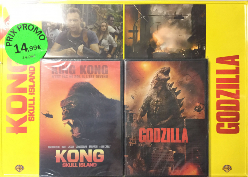 PACK KONG SKULL ISLAND / GODZILLA - DVD