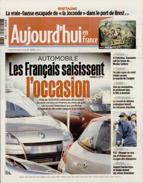 AUJOURD'HUI EN FRANCE