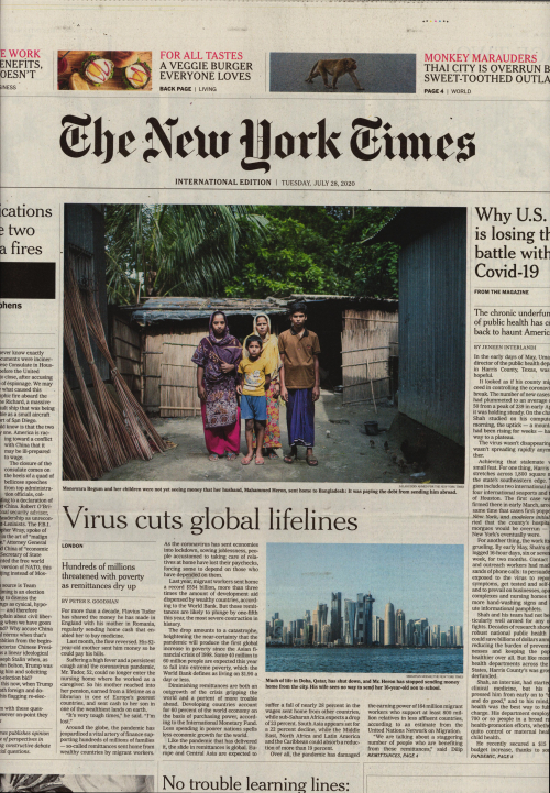 INTERNATIONAL THE NEW YORK TIMES (EX- INTERNATIONAL HERALD TRIBUNE)